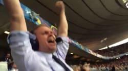 L'explosion de joie contagieuse du commentateur du match