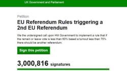 Plus de 3 millions de signatures pour la tenue d'un 2e référendum sur le