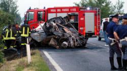 Morti 5 amici d'infanzia e un operaio dell'Ilva in un incidente frontale a