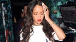 Rihanna Goes Clubbing, Wears $4,000 Denim Chap