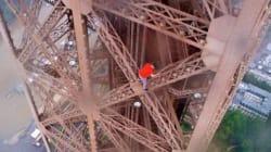 Trois Russes escaladent la Tour Eiffel sans aucune