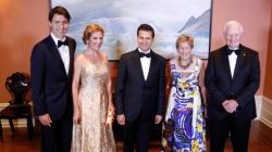 Sophie Grégoire Trudeau brille en doré au dîner d'État en l'honneur du président