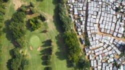 南アフリカの極端な格差が一目で分かる航空写真