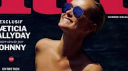 Laeticia Hallyday seins nus en couverture de «Lui