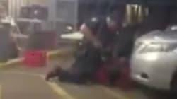 La vidéo d'un homme à terre abattu par un policier crée l'indignation aux