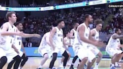 Le haka version basket face aux Bleus de Tony