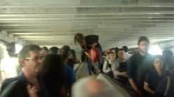 Mouvement de foule à Châtelet après un accident grave de