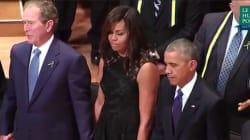 L'attitude très déplacée de George W. Bush lors de l'hommage aux victimes de