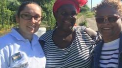 Ingrid, CRS, a aidé une femme à accoucher sur