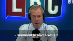 Cet auditeur prend le populiste britannique Nigel Farage à son propre