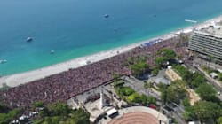 La minute de silence à Nice filmée par un