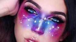 Le maquillage galaxie prend d'assaut
