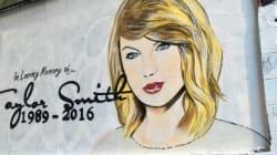 Le mémorial en hommage à Taylor Swift ne ressemble déjà plus à