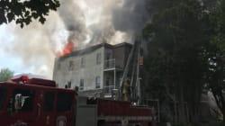 Incendie au centre-ville de Shawinigan : trois immeubles en
