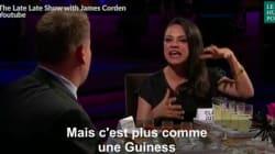 Mila Kunis préfère décrire les attributs d'Ashton Kutcher plutôt que boire