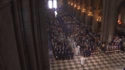 Les images de la messe en hommage au prêtre