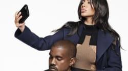 Kanye West pose avec Kim K. et compare ses selfies nue... à