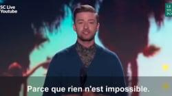 Ce message de Justin Timberlake aux ados est un modèle de