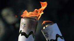La flamme olympique arrive à