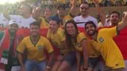 Torcida dos refugiados foi BEM MAIS animada que brasileiros em jogo da