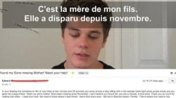 Grâce à sa chaîne YouTube, il retrouve la maman d'un petit