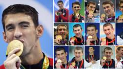 21 médailles d'or pour Phelps entre 2004-2016? C'est presque aussi bien que l'ensemble de l'équipe de