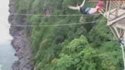 TERRIFYING VIDEO: Bungee Jumper's Cord Snaps In Freak