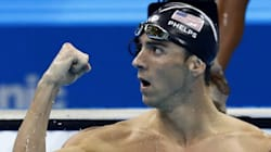 Michael Phelps Had A Wardrobe Malfunction Just Before His