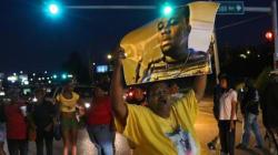 Mayhem Erupts At Protest Marking Fatal Ferguson