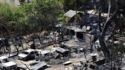 Après l'incendie, les dégâts sont