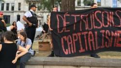 Une manifestation anti-capitaliste en marge du Forum social mondial à