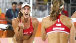 ビーチバレー、女子選手の熱き砂上の戦い リオオリンピック【画像集】