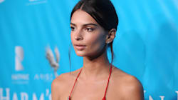Emily Ratajkowski Is Red Hot In Racy Couture