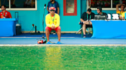 Diver Says Green Olympic Diving Pool Now 'Smells Like A
