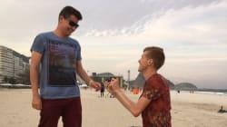 Ancora proposte di matrimonio a Rio: il marciatore Bosworth dona l'anello di fidanzamento al suo amore