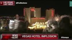 Les images impressionnantes de l'implosion du mythique hôtel Riviera à Las