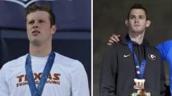 Deux nageurs américains débarqués de l'avion à