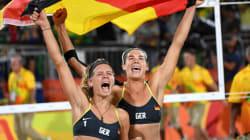 女子ビーチバレー、ドイツ・ペアが金メダル ブラジル破る【画像集】