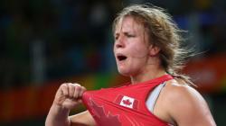 La lutteuse canadienne Erica Wiebe remporte la médaille