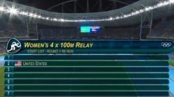 Seules en pistes, les Américaines se qualifient pour la finale du 4x100