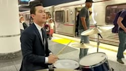 Joseph Gordon-Levitt Plays Drums On Subway Platform, No One Bats An