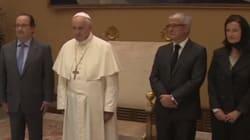Ce détail de la visite de François Hollande au pape est passé inaperçu, et