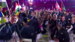 Les athlètes français ont mis l'ambiance à la cérémonie de