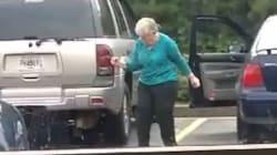 Cette mamie qui danse joyeusement sur un parking donne envie de se remuer le