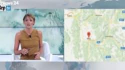 Due scosse in diretta tv su Rai News