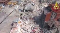 L'étendue des dégâts après le séisme en Italie, filmée par un