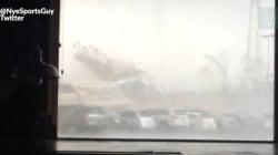 Un café Starbucks aplati par une tornade aux
