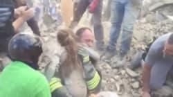 Une fillette de dix ans sauvée des décombres en Italie