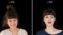 朝の7時と夜の7時、人間の顔はこれだけ変わる(画像集)