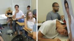 Cet étudiant a trouvé une façon brillante pour dormir en classe
